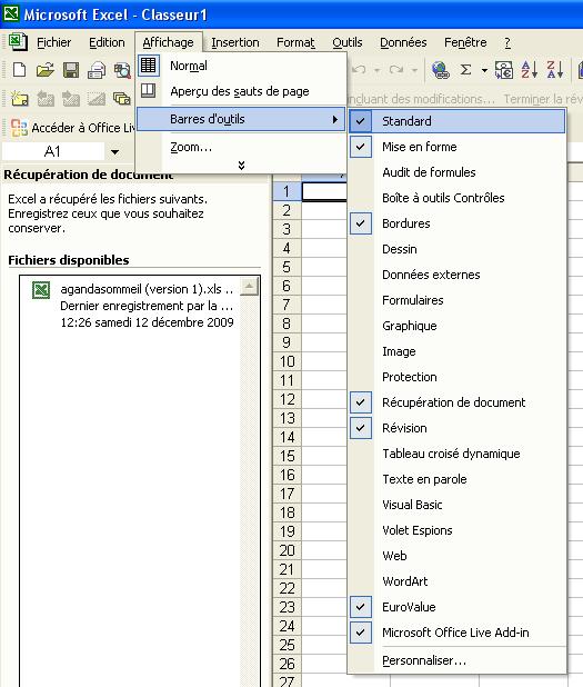 La customisation des barres d'outil est la regle des 80 20 appliquée au design